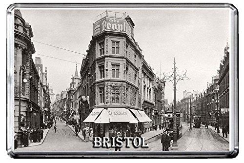 B495 BRISTOL VINTAGE PHOTO KÜHLSCHRANKMAGNET OLD VINTAGE CITY PHOTO OF ENGLAND REFRIGERATOR MAGNET