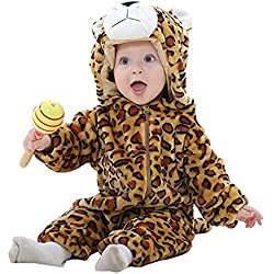 MICHLEY Bebé ropa Niños Niñas disfraces primavera Franela Traje animales Pelele baozi-100cm