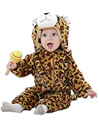 MICHLEY Hooded Baby Romper Autumn Winter Flannel Jumpsuits