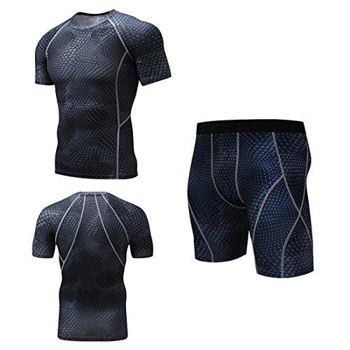 T-shirt a manica corta da uomo Compression Layer Set Tights da uomo A
