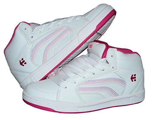 Etnies Sneaker Girls Skater Mid High Turnschuh Freizeitschuh (38 EU, Weiss) (Schuhe Mädchen Etnies Kids)