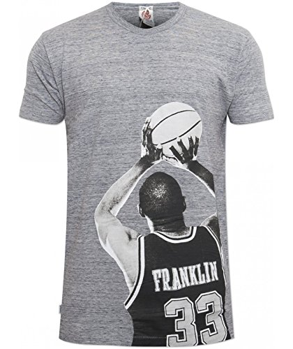 New-Franklin-and-Marshall-Mens-Grey-TSMVA246-Long-Box-Fit-Designer-T-Shirt