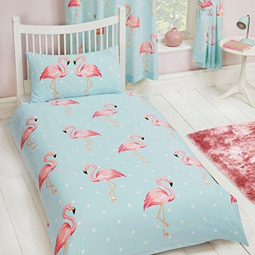 FiFi Flamingo Einzel Decken Abdeckung und Kissenbezug Set