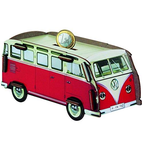 Twinbox Spardose VW Bus Bulli T1 Samba Rot Sammelbox