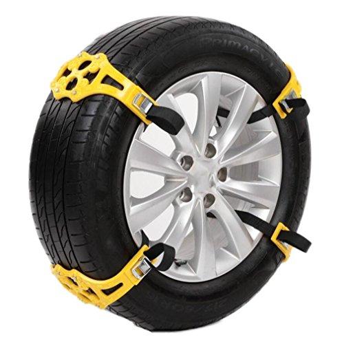 10 STÜCK Winter Lkw Auto Schneekette Schwarz Reifen Anti-skid Gürtel Einfach Installieren Einfache , Yellow