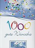 A4 XXL Grußkarte 1000 Gute Wünsche Bunte Ballons am Himmel