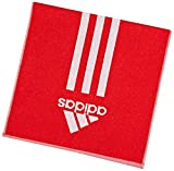adidas Handtuch Towel S Sporthandtuch Fitness (S (100x50cm), rot-weiß)
