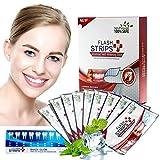Zahnaufhellungsstreifen, Professionelles Zahnweiß-Kit, natürliche Zahnaufhellung, weiße Streifen mit Minzgeschmack - Packung mit 28 trockenen Streifen (weiß)