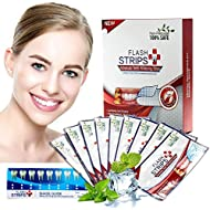 Teeth Whitening Strips,Professional Teeth Whitener Kit,Teeth Whitening Natural,White Strips with Mint Flavor -Pack of 28 Dry Strips (White )