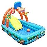 Aufblasbares Pool Planschbecken Kinder mit Rutsche Spielzeug Burg