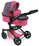 Bayer Chic 2000 595 82 Kombi-Puppenwagen Mika, Sternchen pink, Rosa