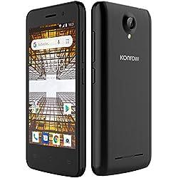 Konrow City Smartphone Débloqué (4 pouces, 8Go, 1Go de Ram, Double Sim, Android 8,1) Noir