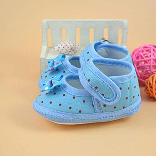 Culater® Bambino Bowknot stivali morbidi pattini della greppia Blu