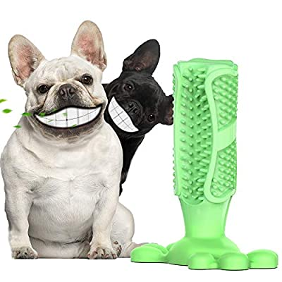 Lsnisni Dog Toothbrush? Brushing Stick?360° Dog Teeth Cleaning Massager ? Pets Chew Toy?Nontoxic Natural Rubber?Dental Care for Pet Puppies?FDA from suiqi