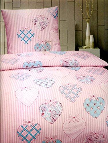 Mädchen Rosa Bettwäsche Set (Leonado Vicenti 2 tlg. Microfaser Bettwäsche Set Kinder Jungen oder Mädchen Garnitur Kinderbettwäsche mit Reißverschluss, Maße:135 cm x 200 cm, Farbe:Ursula Rosa)