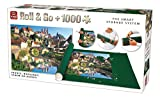 King 5340 Roll & Go Puzzle Storage Including 1000-Piece Puzzle, Jigsaw Mat, 500