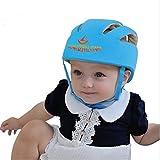 ELENKER Infant Cappuccio di protezione del bambino casco per il bambino durante l'esecuzione Lerner regolabile Casco protettivo blu