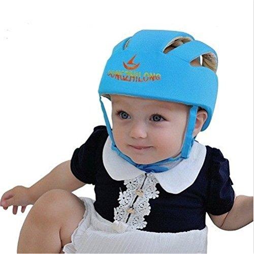 ELENKER Casco de Seguridad Protección para bebe infantile ajustable durante aprender a andar azul