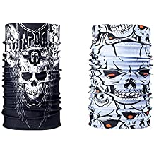 Combo Of Noise 13 in 1 Tapout Skull And Skull Ride Multifuntional headwrap/Bandana