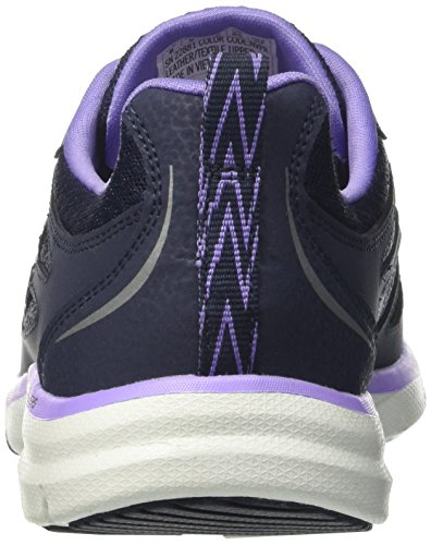 Skechers Galaxies-Enigma, Scarpe Running Donna Blu (Navy/purple)