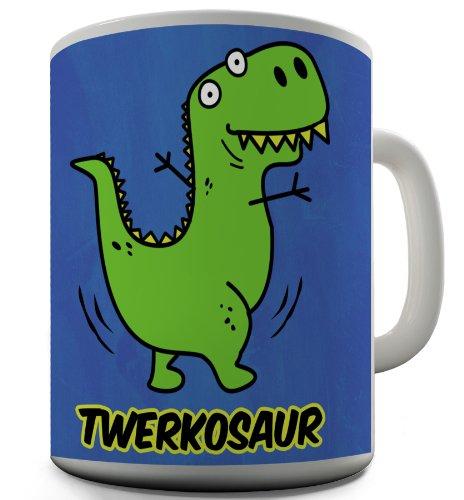 TWISTED ENVY Taza de Twerk o Saur dinosaurio taza de cerámica novedad