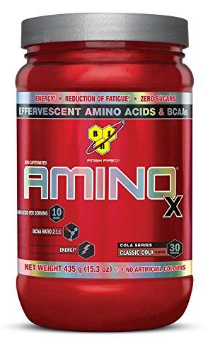 BSN Amino X Sport Nahrungsergänzungsmittel mit Geschmack Cola-435g