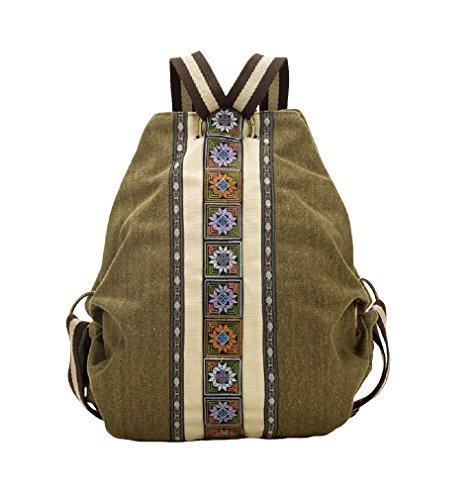Vintage Canvas Rucksack Daypacks Schultertasche Multifunktion Tasche AL5061 ()