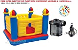 #8: INTEX Inflatable Jump-O-Lene Ball Pit Castle Bouncer With Intex Electric Air Pump AND INTEX INFLATABLE FUN BALL.