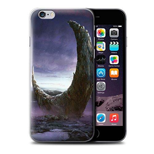 Offiziell Chris Cold Hülle / Case für Apple iPhone 6 / Polarlicht Muster / Fremden Welt Kosmos Kollektion Zerbrochenen Mond