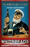 Affiche métallique avec whitbread's bière beer capitaine marin plaque publicitaire rétro