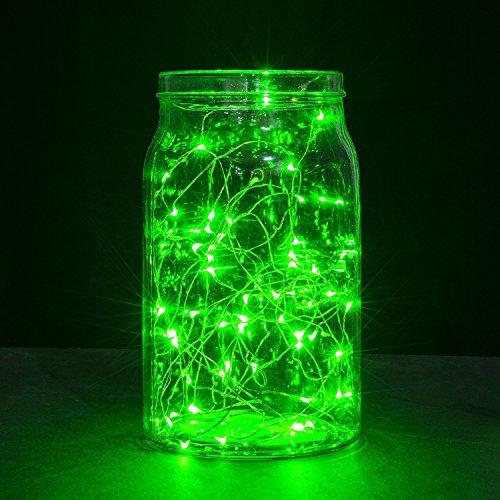 Seil Lichter, Ryham 9.8ft / 3M 30 LED Mini-dekorativen Weihnachtsfest -Schnur-Licht-Sternen Draht f¨¹r Hochzeit Schlafzimmer Ferien Pub Club 3xAA Batterien mit Strom versorgt, Gr¨¹n