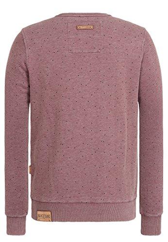 Naketano Male Sweatshirt Cevapcici Günther III Heritage Bordeaux Melange