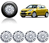 #9: Autopearl Car Full Silver Wheel Cover Caps 14