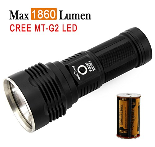 Preisvergleich Produktbild Sidiou Group 7G10 CREE MT-G2 5-Mode 1860 Lumen taktische LED-Taschenlampe mit 4 x 3,7 V 3000mAH 18650 Li-Ionen-Akkus
