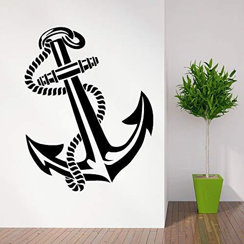 zqyjhkou W Alle Aufkleber Vintage Anker Retro Tattoo Schiffe Wand Dercal Hochwertige Kunst Wandaufkleber Dekoration Wandbild Tapeten Wy-63 57x72cm