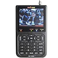 Satlink WS-6906 DVB-S FTA C and KU Band Digital Satellite Finder Meter 3.5 Inch lcd
