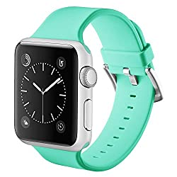 Vandarui For Apple Sports Watch Band,silicone Bracelet Strap Wristband Replacement Band For Apple Watch Series 1,apple Watch Series 2,apple Watch Series 3 (38mm, Green)