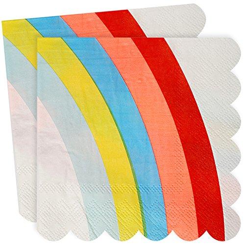 20 Serviettes en papier Licorne Multicolore