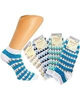 "12er oder 24er Pack Damen Sneaker Socken,halbe Socken, Füsslinge, Füßlinge mit ""Streifenkaros"" Gr. 35/38 bis 39/42"