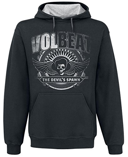 Volbeat The Devil's Spawn Felpa con cappuccio nero/grigio sport XL
