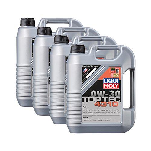 Preisvergleich Produktbild 4x LIQUI MOLY 3736 Top Tec 4310 0W-30 Motoröl FIAT PEUGEOT 5L