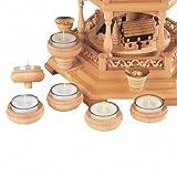 Weihnachtspyramide Kerzenhalteraufsatz für Teelichte - 6 Stück - Original Erzgebirge - Müller Kleinkunst
