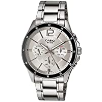 Casio MTP1374D-7AV Watch For Men Standard Metal Band Multi-Function Silver Dial