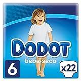 Dodot Bebé-Seco Pañales Talla 6, con Canales de Aire, 13+ kg- 22 Pañales
