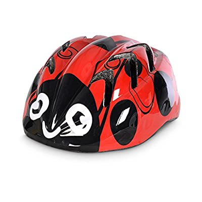 Oxford Little Animal Children Helmet - Ladybird, 48-52cm / Kid Child Toddler Pre School Infant Youngster Young Age Boy Girl Unisex Bicycle Cycling Cycle Biking Bike Accessories Safety Safe Hat Hard Shell Protection Protective Protect Head Skull Upper Body