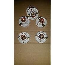 portalampada porta lampada lampadina in ceramica e rame elios art 765 attacco E14 con fori di fissaggio e morsetti polarità esterni 10 PEZZI