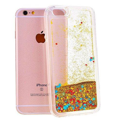 Coque iPhone 6 Plus / 6S Plus, SpiritSun Housse Étui Clair Étoile pour Apple iPhone 6 6S Plus (5.5 pouces) Ultra Mince Rigide Strass Coque Crystal Case PC Dur Couverture - Or Or