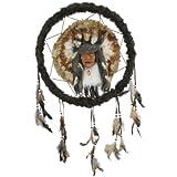 NEU Wand-Deko Traumfänger mit Indianer, Ø 46 cm