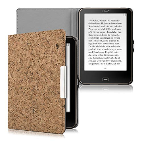 kwmobile Hülle für Tolino Vision 1 / 2 / 3 / 4 HD - Flipcover Case eReader Schutzhülle - Bookstyle Klapphülle Hellbraun