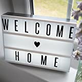 Enhanced Cinematic Light Box with Letters, Numbers and Symbols - Perfect Gift for All Occasions! Super bright LED A4 lightbox with 80 high quality tiles & USB cable included